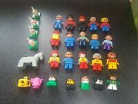 Large Bundle Collection of Lego Duplo Figures inc Animals and vintage