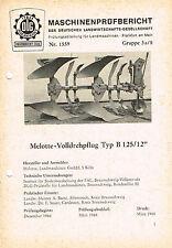 Melotte- Volldrehpflug Typ B 125/12, orig. DLG- Bericht 1968