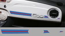 1 X BANDE MARTINI RACING TABLEAU DE BORD FIAT 500 AUTOCOLLANT STICKER BD536-3