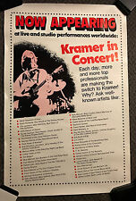 1970S KRAMER GUITAR ADVERTISING POSTER STONES KISS QUEEN DAVID BOWIE ENDORSEMENT
