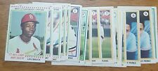 1978 Topps Baseball Complete Your Set Pick 20 Cards From List