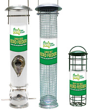 LARGE Deluxe Wild Bird Hanging NUT, SEED and FAT BALL feeder BUNDLE