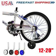 "Heavy Duty Children Bicycle Stabilisers Kids Training Wheel 12-20"" Cycle Bike US"