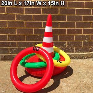 Inflatable Traffic Ring toss Inflatable Birthday game collection party accessory