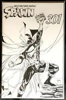 SPAWN #301 TODD MCFARLANE BLACK WHITE SKETCH VARIANT NM 2019 RECORD BREAKING