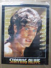 Vintage Poster Staying alive movie Travolta movie 1983 Inv#G2457