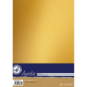 10 Fogli A4 di carta metallizzata color oro CARD SCRAPBOOKING cartoncino Spar...