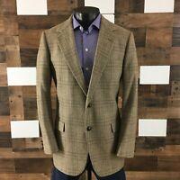 Men's Vintage Este's Sport Coat Blazer Jacket Soft Tweed Light Brown 42Long
