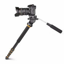 Q188 Portable Super Light Photography Video Fluid Head Monopod For DSLR Camera