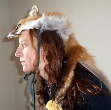 Custom Real Red Fox Headdress with all four paws - Totem Dance Costume