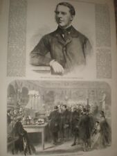 W N Massey MP Finance Minister for India & South London Exhibition 1865 prints