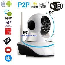 TELECAMERA IP P2P HD 720P CAMERA INFRAROSSI WIRELESS WI-FI REGISTRA MICRO SD