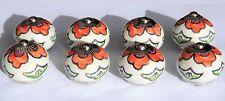 porcelaine céramique Bouton placard rond fleur d'oranger vert feuillage (Chrome