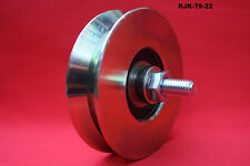 79mm Steel V Groove slide gate pulley wheels suit for tube, bar, rope