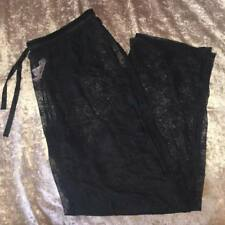 Nueva victoria Secret Negro Transparente Encaje Sexy Pijama Pantalones De Verano Playa encubrir L