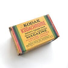 RARE VTG KODAK KODACHROME 35MM / 36MM FILM MAGAZINE ROLL SEALED BOX EXP AUG 1939