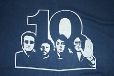 BEATLES 10 Blue 1974 10th ANNIVERSARY True Vintage Graphic Heavy T-Shirt * Small