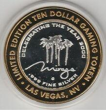 2000 Mirage Millennium Casino G Mint .999 Fine Silver Strike $10 Gaming Token CU
