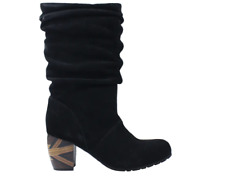 L'Amour Des Pieds Rouched Leather Mid Calf Boots - Pamby