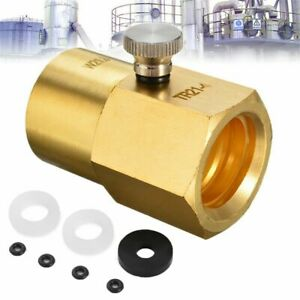 to W21.8-14 with Bleed Valve Cylinder Refill Adaptor CO2 Adapter For Sodastream