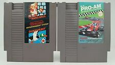 (2) Nintendo Game Cartridges NES Super Mario Bros / Duck Hunt & RC Pro AM Tested