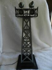 O -Scale BEACON 4 Lights TOWER - Silver /Gray Great Add!!  RARE!! 14 inches