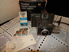 VINTAGE POLAROID SQUARE SHOOTER LAND CAMERA~BOX~FLASHCUBE~COLD CLIP DIRECTIONS