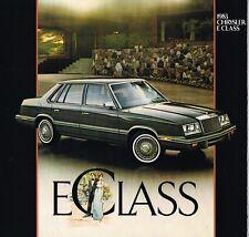 1983 CHRYSLER CLASE E Catálogo / CATALOG con tabla de colores