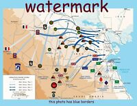 PERSIAN GULF WAR 1990 UNITED STATES MILITARY UNIT TACTICAL MAP PUBLICITY PHOTO