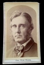 Carte-de-visite cdv photograph of GEORGE WILLIAM CURTIS orator author editor