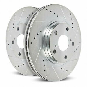 Power Stop Brake Rotors For Honda Odyssey 2011-2017 Rear Drilled & Slotted Pair