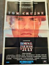 BORN ON THE 4TH OF JULY (VIDEO DEALER 40 X 27 POSTER!, 1990S)  TOM CRUISE