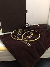 Authentic Louis Vuitton Sweet Monogram Creole Hoop Earrings Original Box & Bag