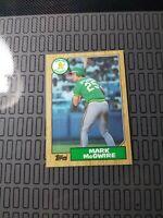 1987 Topps MARK McGWIRE Rookie Baseball Card #366 Oakland Athletics