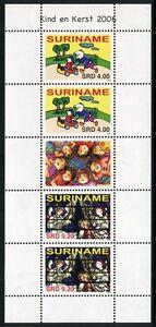 Surinam 2006 Kinder Children Weihnachten Glasmalerei 2071-2072 Kleinbogen MNH
