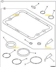 JCB PARTS -  JCB KIT BOTTOM GASKET TURBO ENG (PART# 320/09281 320/09383)