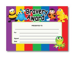 Certificate: Bravery Award  20 Pack Reward