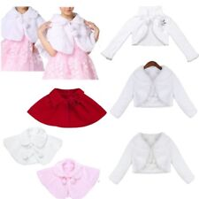 Kids Girls Princess Flower Dress Bolero Shrug Cardigan Jacket Toddler Cape Coat