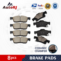 [Front+Rear] Ceramic Pad Disc Brake Pads for 2011 - 2017 Durango Grand Cherokee