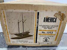 "Jh Marin Model Company 1:8 Scale ""America"" Schooner Yacht Wooden Model Kit NoRes"