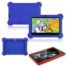 "7"" Android 4.4 Quad Core Kids Tablet PC Dual Camera  WiFi Red + Blue Q88 Case GL"