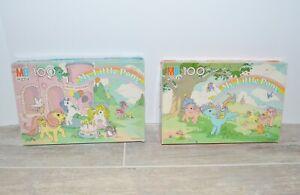 My Little Pony Puzzle 100 Piece 1985 Milton Bradley Complete Lot of 2 Vintage