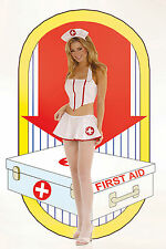 AUTHENTIC FLIRTY NURSE VINYL OUTFIT Elegant Moments 9373  S/M