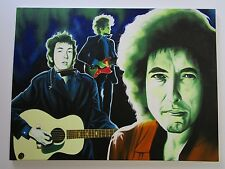 LARGE HECTOR MONROY MONROCK PAINTING  BOB DYLAN VINTAGE POP MUSICIAN PORTRAIT