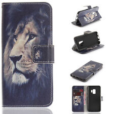 Painting Flip Wallet Leather Stand Case Cover For iPhone X Samsung S8 S9 Note 8