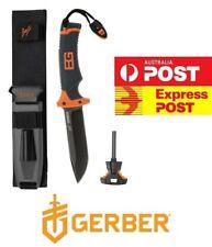 GERBER ORIGINAL Bear Grylls Ultimate Survival Knife - PLAIN FINE EDGE! GUARENTEE