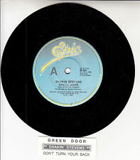 "SHAKIN' STEVENS  Green Door 7"" 45 rpm vinyl record + juke box title strip"