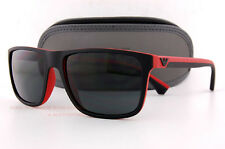 Brand New EMPORIO ARMANI Sunglasses 4033 5324/87 BLACK RED/GRAY for Men