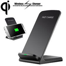 Qi Wireless Charger Ladestation Induktive SchnellLadegerät Für iPhone X Samsung