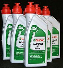 5X1 Liter Castrol Garden 4T SAE 30 Rasenmäher Motoröl Gartengeräte API SF